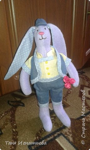 Вот такого зайчишку я подарила маме на пасху в этом году вместо яиц... фото 3