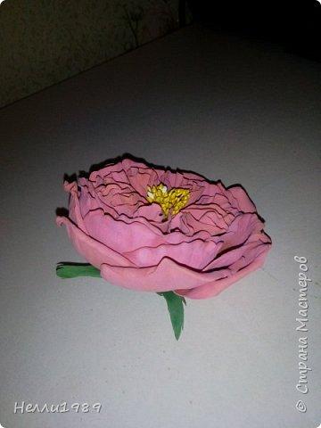 Пионовидная роза из фома фото 1