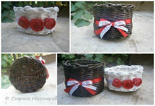 Плетеная корзинка под хлеб. кое какая загибка  :) фото 5