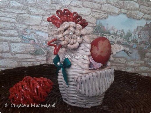 Плетеная корзинка под хлеб. кое какая загибка  :) фото 2