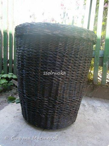 Плетеная корзинка под хлеб. кое какая загибка  :) фото 3