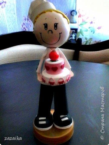 простите за качество фото эту куклу я делала на юбилей технички фото 8