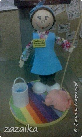 простите за качество фото эту куклу я делала на юбилей технички фото 1