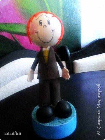 простите за качество фото эту куклу я делала на юбилей технички фото 11