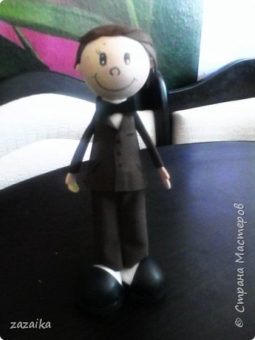 простите за качество фото эту куклу я делала на юбилей технички фото 12