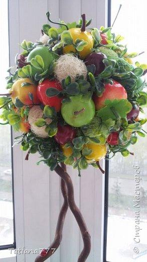 Добрый день страна! Что то редко я стала делать деревца, даже соскучилась и тут знакомая попросила деревце, получились два фруктовых садика) фото 3