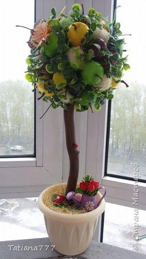 Добрый день страна! Что то редко я стала делать деревца, даже соскучилась и тут знакомая попросила деревце, получились два фруктовых садика) фото 5