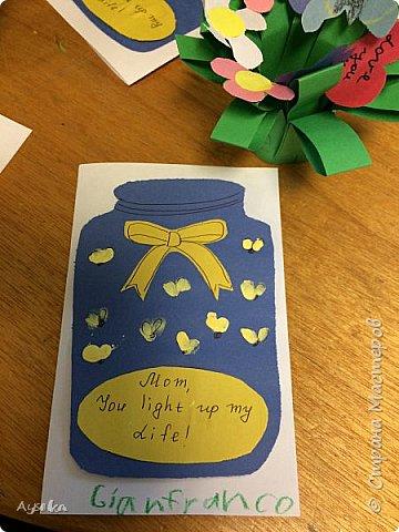 """готовились ко дню мамы- делали открытки """"МАМА,ты освещаешь мой путь :)  фото 4"""