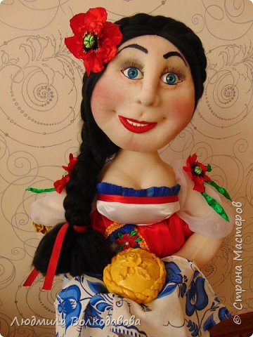 Доброго времени суток, жители Страны Мастеров! Представляю Вам новую куколку. Зовут Оленька. Приятного просмотра! фото 1