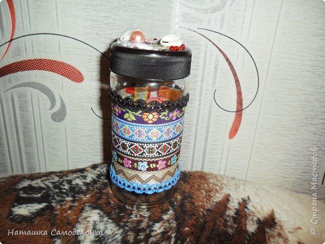 Люблю я всякие баночки украшать,в этой 2 яичка ,подарила подруге,потом пригодится для пуговиц она сказала))) фото 1