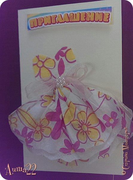 Сделала вот такие пригласительные на день рождения дочки, даже не думала, что так хорошо (мне так кажется :))) получится из простых тонких бумажных салфеток! фото 5