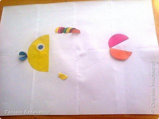 Вот такую рыбку с 1 и 3 классом, обучающимся по программе 8 вида, мы сделали. фото 3