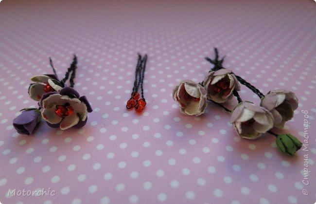 Наконец-то мои руки дошли до попытки сделать миниатюрные цветочки из вырубных элементов. фото 4