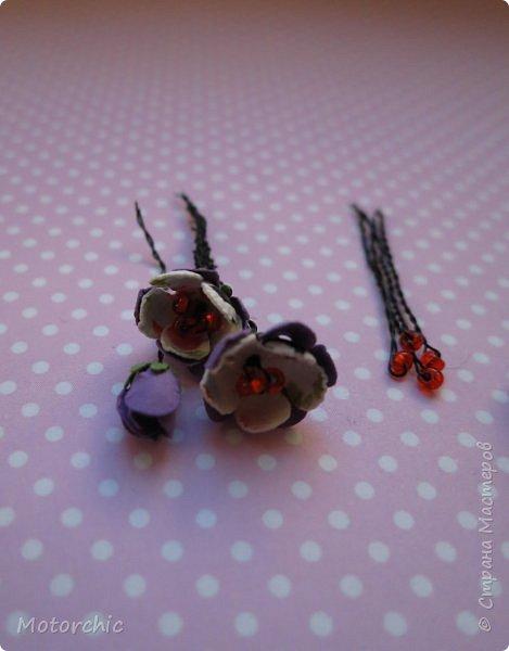 Наконец-то мои руки дошли до попытки сделать миниатюрные цветочки из вырубных элементов. фото 5