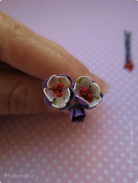 Наконец-то мои руки дошли до попытки сделать миниатюрные цветочки из вырубных элементов. фото 6
