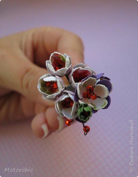 Наконец-то мои руки дошли до попытки сделать миниатюрные цветочки из вырубных элементов. фото 1