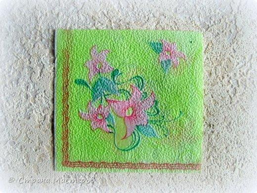 Предыдущие органайзеры и карандашницы... http://stranamasterov.ru/node/221855?t=292 *********************************************** Приветствую вас, дорогие друзья! В Питере тепло и солнечно. Листики на деревьях распустились, а цвет цвет молодой листвы - это чудо, поэтому выбирая палитру для очередной баночки-органайзера  остановилась на салатовой салфетке. фото 2