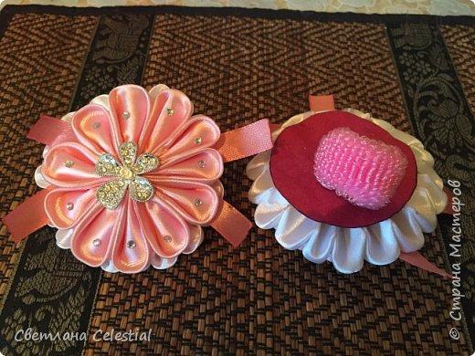 Цветочные Канзаши для племяшки фото 1