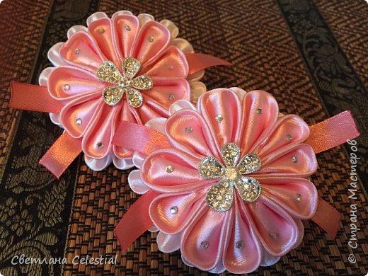 Цветочные Канзаши для племяшки фото 3