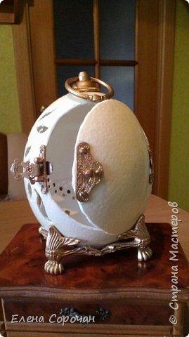 Шкатулка из яйца страуса фото 7