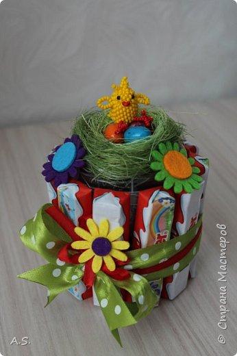 А мы с дочкой всё еще плетём пасхальные подарки) И посчастливилось мне найти для наших цыплят вот такие корзиночки. фото 22
