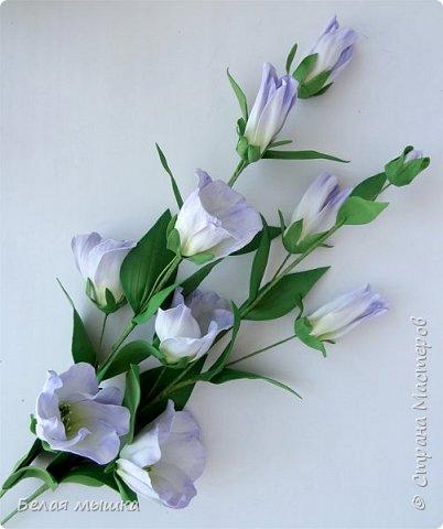 Чем сложнее цветок - тем сильнее хочется его сделать! Так, видимо, и со мной. Экспериментировала в изготовлении эустомы. Вот и результат фото 2