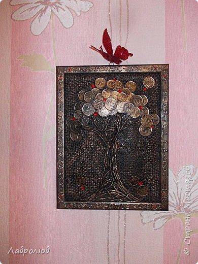 Денежное дерево в рамке фото 1