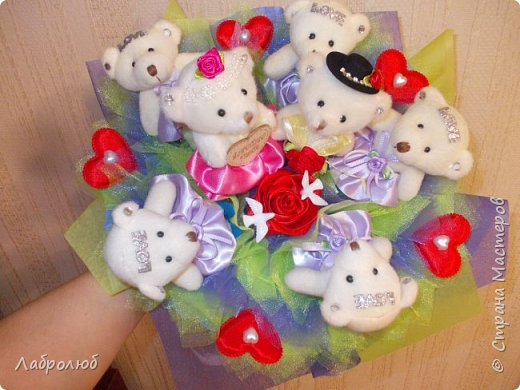 букеты из игрушек фото 4