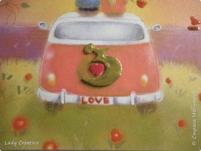 """Открытка на День Святого Валентина. Открыток с воздушным шаром в интернете множество, поэтому не могу сказать, что моя - лифтинг какой-то конкретной работы, скорее всего сделана """"по мотивам"""".   фото 5"""