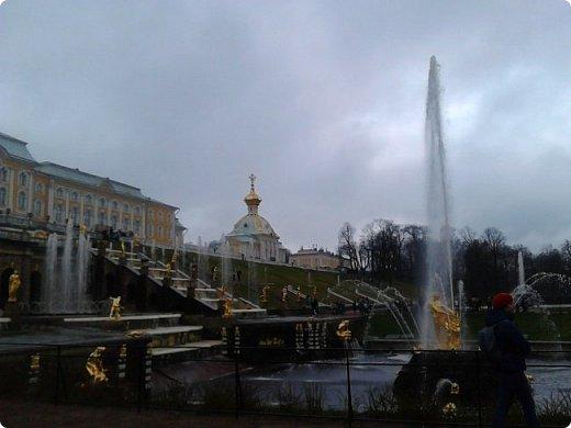 До чего же красиво в Петергофе!  Золотой Каскад. Самый большой из всех каскадов. фото 3
