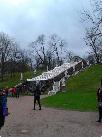 До чего же красиво в Петергофе!  Золотой Каскад. Самый большой из всех каскадов. фото 11