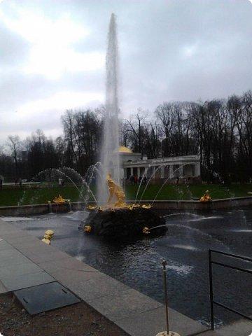 До чего же красиво в Петергофе!  Золотой Каскад. Самый большой из всех каскадов. фото 7