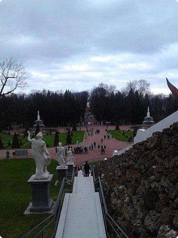 До чего же красиво в Петергофе!  Золотой Каскад. Самый большой из всех каскадов. фото 13