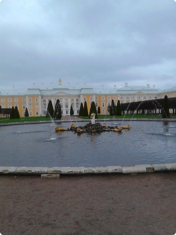 До чего же красиво в Петергофе!  Золотой Каскад. Самый большой из всех каскадов. фото 8