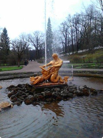 До чего же красиво в Петергофе!  Золотой Каскад. Самый большой из всех каскадов. фото 6