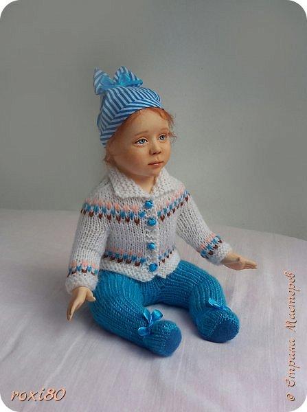 """Здравствуйте, мои дорогие гости! Вот такая девочка получилась нежданно-негаданно. Ее зовут Анюта. Так уж получается, что всех кукол называю на """"А"""" )))) фото 4"""