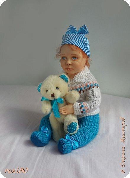 """Здравствуйте, мои дорогие гости! Вот такая девочка получилась нежданно-негаданно. Ее зовут Анюта. Так уж получается, что всех кукол называю на """"А"""" )))) фото 3"""