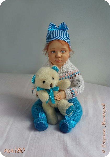 """Здравствуйте, мои дорогие гости! Вот такая девочка получилась нежданно-негаданно. Ее зовут Анюта. Так уж получается, что всех кукол называю на """"А"""" )))) фото 2"""