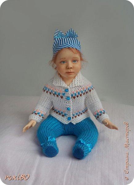 """Здравствуйте, мои дорогие гости! Вот такая девочка получилась нежданно-негаданно. Ее зовут Анюта. Так уж получается, что всех кукол называю на """"А"""" )))) фото 1"""