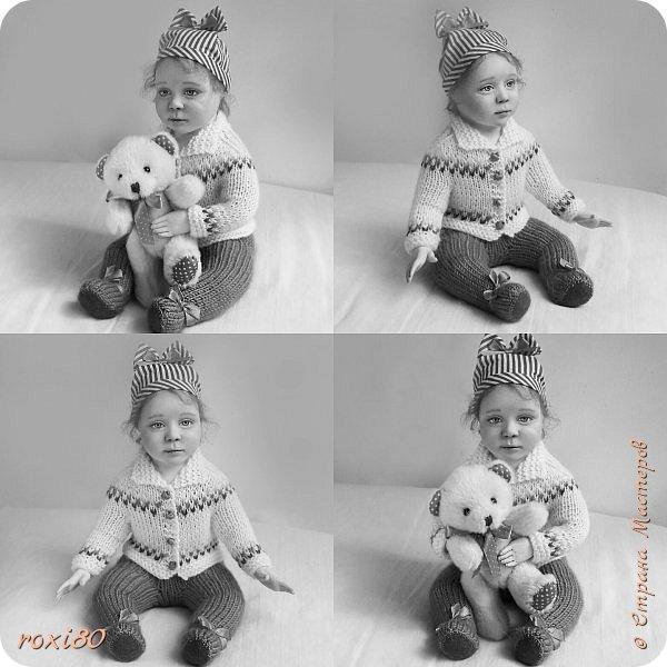 """Здравствуйте, мои дорогие гости! Вот такая девочка получилась нежданно-негаданно. Ее зовут Анюта. Так уж получается, что всех кукол называю на """"А"""" )))) фото 5"""