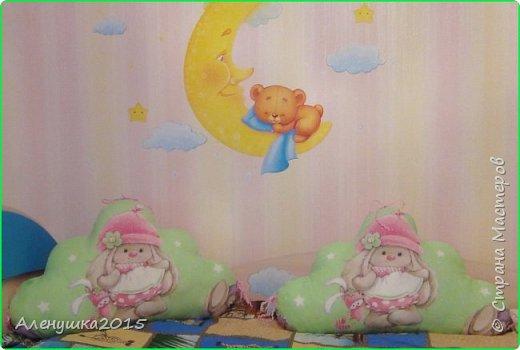 Бортики-облачка в кроватку  фото 4