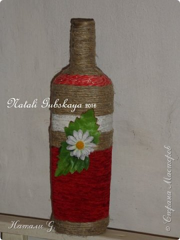 Декор  бутылки,  почти  по-украински )))