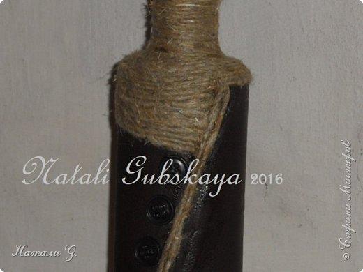 Мужской вариант декора бутылки фото 4