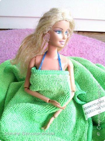 Всем привет! Вика так ждала лето, и не до ждалась.Она пошла поплавать. Для неё из резинок я связала купальник.Смотрим- фото 15