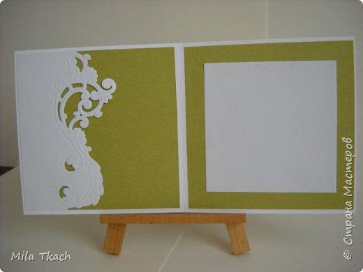 Доброе время суток! Хочу показать две открытки которые сложились просто так, без всякого повода. Первая вот такая Весенне-зелененькая получилась. фото 2