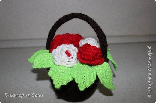 Хочу представить вам мою первую корзину с розами. фото 7