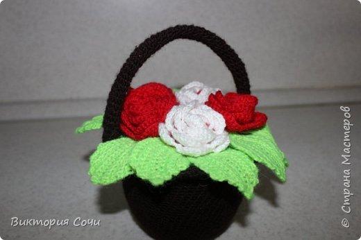 Хочу представить вам мою первую корзину с розами. фото 1