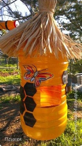 Добрый вечер, дорогая Страна!!! Наступил садово-огородный сезон.И все другие дела пока отошли на второй план.Сегодня в моём саду поселились не только морковка,картошка и лук,но и вот такой солнечный яркий домик с веселыми жителями-пчелками.Вдохновила на это изделие меня  Ledy_777 https://stranamasterov.ru/node/921338.(не умею делать ссылки,если что не правильно делаю-поправьте пожалуйста) Спасибо ей огромное! фото 1