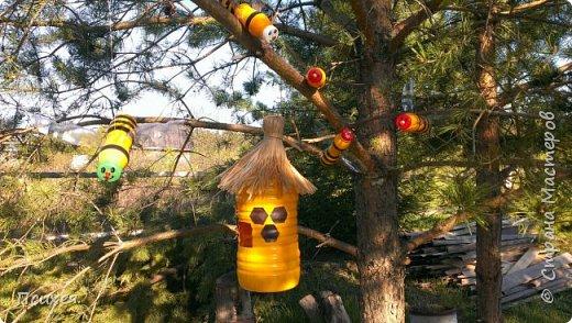 Добрый вечер, дорогая Страна!!! Наступил садово-огородный сезон.И все другие дела пока отошли на второй план.Сегодня в моём саду поселились не только морковка,картошка и лук,но и вот такой солнечный яркий домик с веселыми жителями-пчелками.Вдохновила на это изделие меня  Ledy_777 http://stranamasterov.ru/node/921338.(не умею делать ссылки,если что не правильно делаю-поправьте пожалуйста) Спасибо ей огромное! фото 4