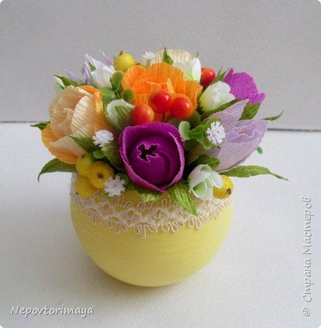 После 8 марта поднакопилось немножко работ. Решила попробовать сделать цветы в кашпо.  фото 4